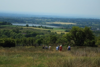 People walking at Slievenacloy Nature Reserve