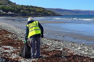 Glenarm beach clean 2016