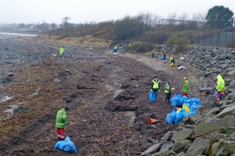 Beach clean Kilroot April 2016