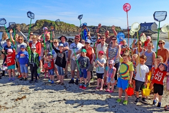 Ballintoy rockpool group shot 2017