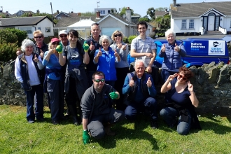 Volunteers who took part in a beach clean