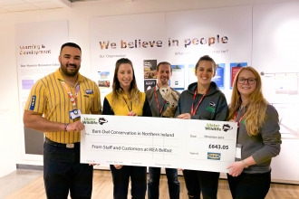 IKEA staff and customers raise £643 for barn owl conservation