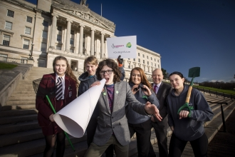 Youth environmental activists make their voices heard at Stormont
