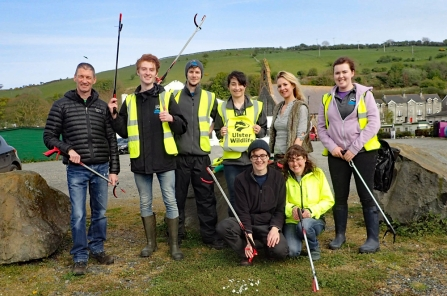 Glenarm beach clean group 2016