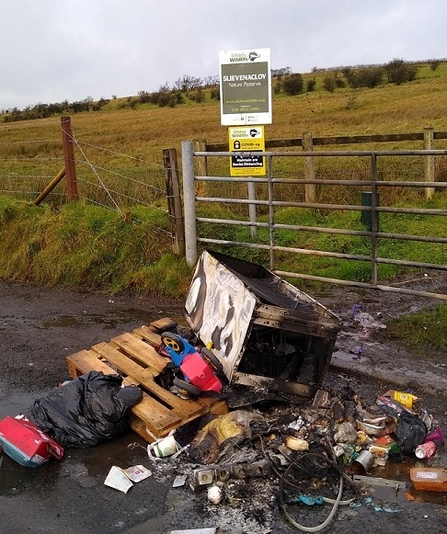 Fly tipping, Slievenacloy (c) Robert Uprichard
